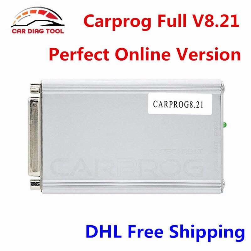 Цена за Новый CARPROG Полный V8.21 прошивки идеальный интернет-версия автомобиля PROG 8.21 автоматический инструмент ремонт в том числе гораздо более авторизации DHL Бесплатная