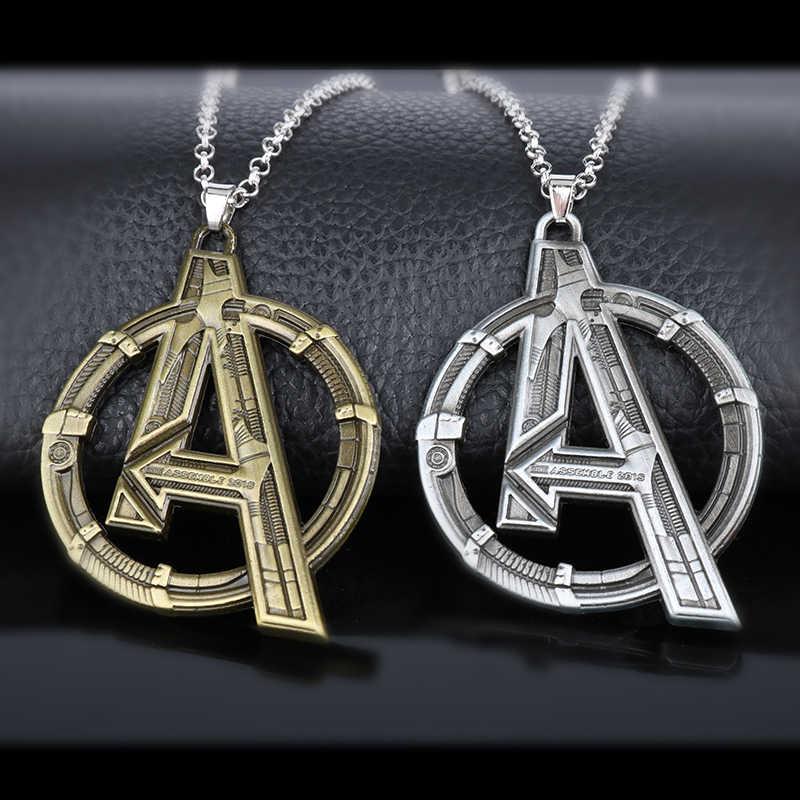 Dongsheng Movie Jewelry Marvel's The Avengers Logo Superhero Marvel naszyjnik mężczyźni wisiorek do naszyjnika prezent dla mężczyzny-30