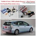 For Toyota Prius 2009~2014 - Car Parking Sensors + Rear View Back Up Camera = 2 in 1 / BIBI Alarm Parking System