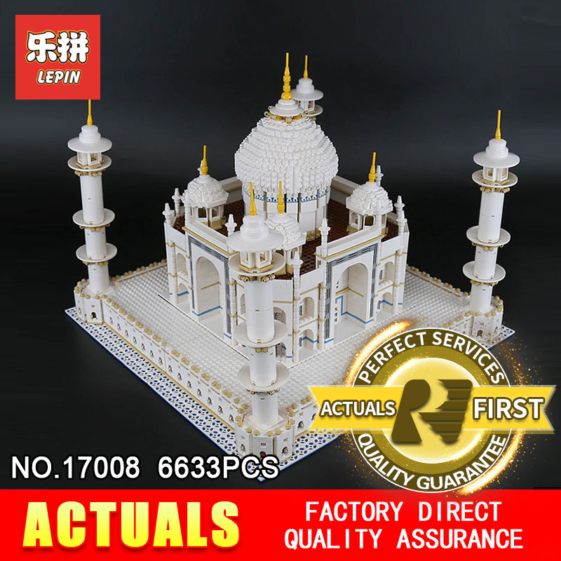 LEPIN 17008 17001 City Street Creator The Tai Mahal Model Building Kits Assembling Brick Toys Compatible 10189 lepin 15018 3196pcs creator city series sunshine hotel model building kits brick toy compatible christmas gifts