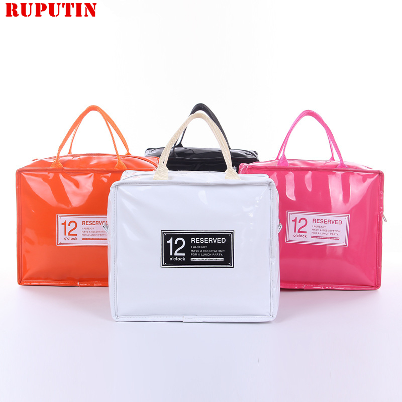 RUPUTIN Large Thermo Lunch Bag Cooler Lunch Insulated Fresh Bags For Women Kids Thermo Padded Box High Capacity Food Picnic Bags