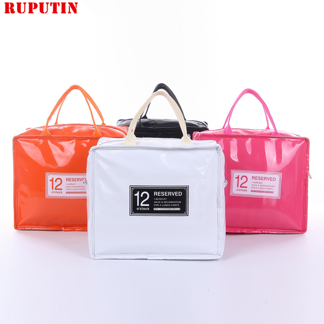 c319ccbc3c33 Aliexpress.com : Buy RUPUTIN Large Thermo Lunch Bag Cooler Lunch Insulated  Fresh Bags For Women Kids Thermo Padded Box High Capacity Food Picnic Bags  ...