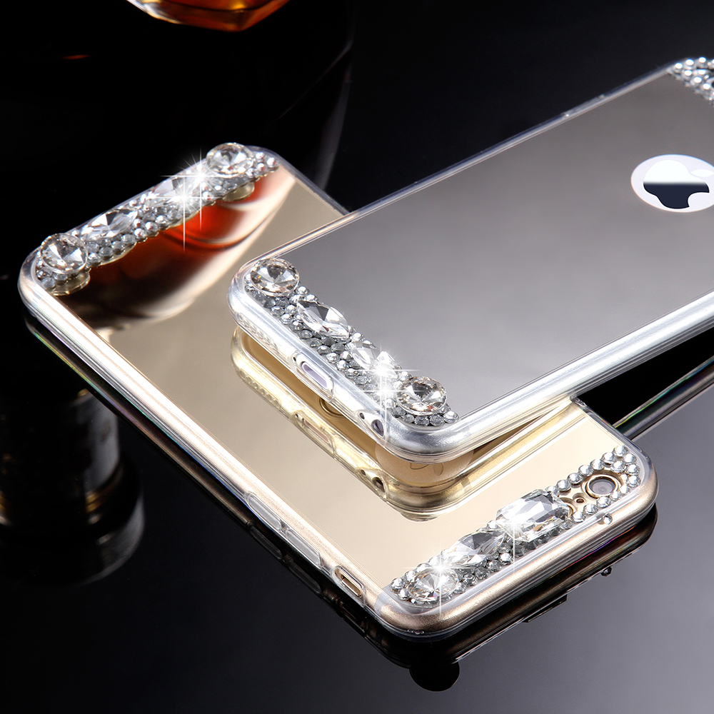 mirror iphone 7 plus case. aliexpress.com : buy kisscase rhinestone mirror case for iphone 7 6 6s 5 5s se bling crystal cover samsung galaxy s8 s8+ plus glitter cases from iphone u