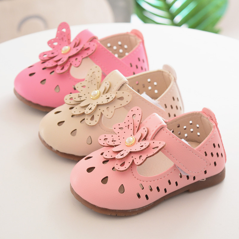 Cute Baby Shoes for Girls Sandals Shoes New Spring Hollow Flowers Baby Girl Sneakers Toddler Boy Newborn Shoes First Walker