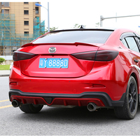 For Mazda 3 Axela 2014 2015 2016 2017 Car Tail Wing Decoration ABS Plastic Paint Painting Color Rear Trunk Spoiler M4 style