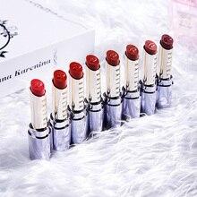 Korean Lipstick 8 Colors Moisturizing Long Lasting Matte Lipstick Red Lip Makeup Nude Cosmetic Beauty Lipsticks 807 cosmetic charming moisturizing lipstick red