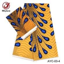 African wax pattern satin fabric 2 in 1 design digital printed 2 yards Chiffon+4 yards Satin fabric nigeria wax printed AYC-03 sinful in satin