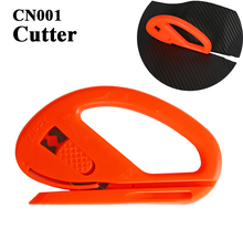 5pcs car sticker installation wrap tools orange vinyl cutting knife could change the blade for recycling use film wrap tools