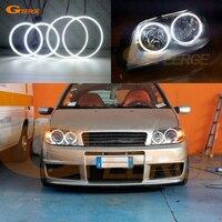 For FIAT PUNTO Mk2 2B 2003 2004 2005 2006 headlight Excellent Ultra bright illumination smd led Angel Eyes kit DRL