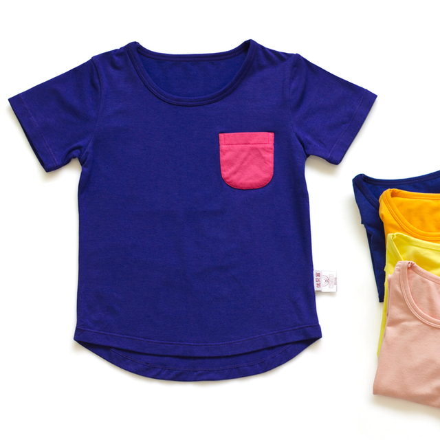 Plain brief child short-sleeve T-shirt male female child short-sleeve shirt basic children's clothing 2013 1902