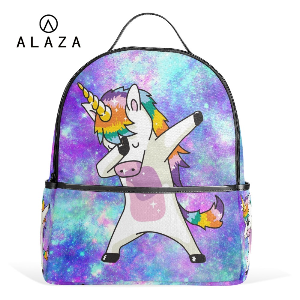 ALAZA Hot Sale Unicorn Student Backpack Girls Colorful Backpack School for Women Kids Laptop Bag Birthday Gift Adjustable Straps