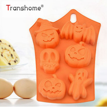 ФОТО Halloween Pumpkin 6 Holds silicone cake molds DIY Baking chocolate molds Pudding Fondant Cake Molds Decorating Tools Baking Tool