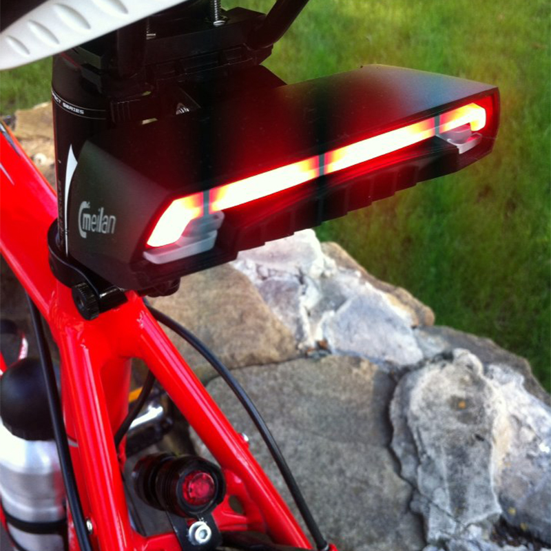 Meilan X5 Smart Bicycle Lights Turn Signal Remote LED Rear Light Wireless Bike Laser TailLight Beam USB Rechargeable Bike Lights meilan x5 wireless bike bicycle rear light laser tail lamp smart usb rechargeable cycling accessories remote turn led