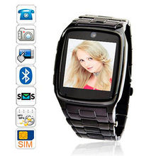 TW810 Unlocked Smartwatch 1.6″ Touch Bluetooth GSM SIM Cell Phone Watch Camera DVR for Apple iPhone 5 6 6 plus Samsung Android