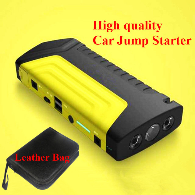 New Capacity 9000mAh Multi-Function 12V Car Jump Starter Portable 2USB Mobile Power Bank Safety Hammer SOS Lights Free Ship