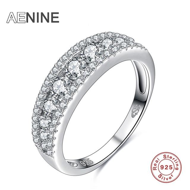 Aliexpresscom Buy AENINE 925 Sterling Silver Rings For Women