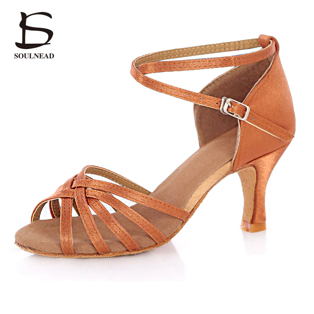 2018 Adult Ladies Women New Arrivals Ballroom Latino Dancing Shoes Soft Bottom High Heeled Professional Tango Salsa Dance Shoes