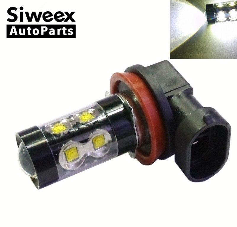 2X high quality CAR LED bulb 50W WHITE 1156 1157 3156 3157 H1 H3 H4 H8 H13 H16 P13W 12V 50W 10SMD Parking Tail DRL Fog lights 3156 12w 600lm osram 4 smd 7060 led white light car bulb dc 12v