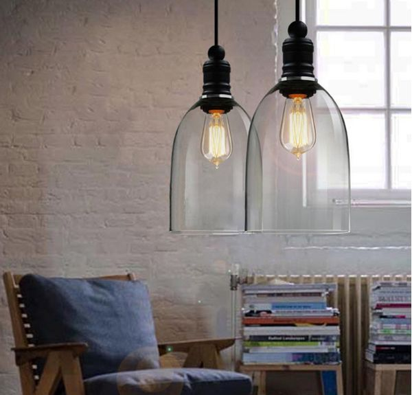 Vintage industrial diy huge size ceiling lamp light glass pendant vintage industrial diy huge size ceiling lamp light glass pendant lighting lampshade in pendant lights from lights lighting on aliexpress alibaba aloadofball Images