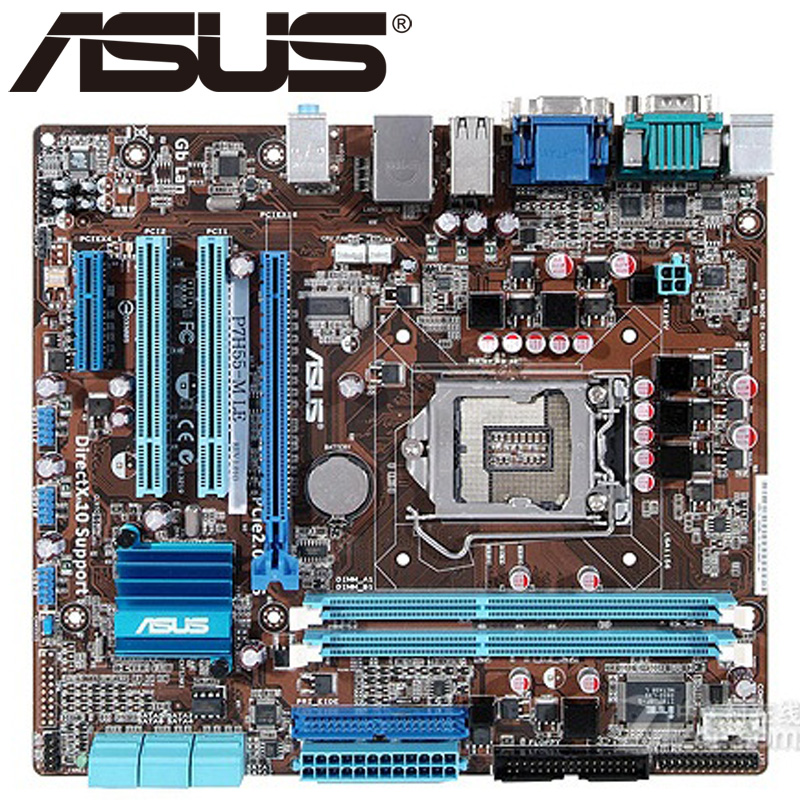 Asus P7H55-M LE Desktop Motherboard H55 Socket LGA 1156 i3 i5 i7 DDR3 16G u ATX UEFI BIOS Original Used Mainboard Hot Sale asus m5a78l desktop motherboard 760g 780l socket am3 am3 ddr3 16g atx uefi bios original used mainboard on sale