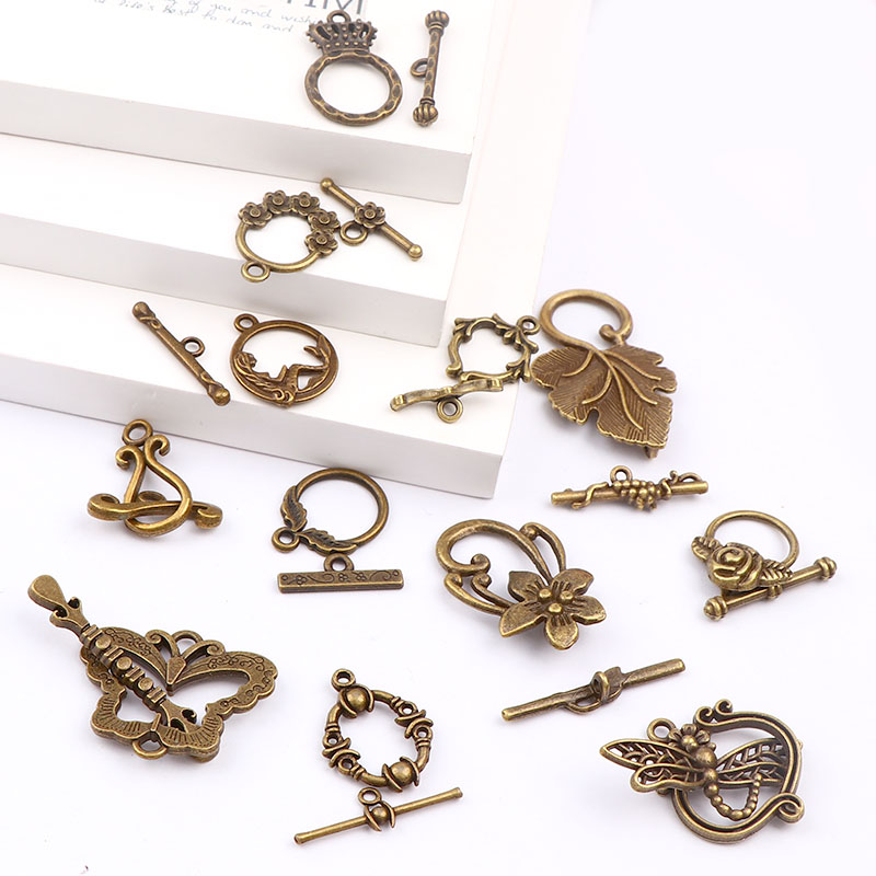 Новая мода античная бронза цвет OT Переключить Пряжка разъемы для браслетов и ожерелий Застежки DIY Ювелирные изделия Аксессуары