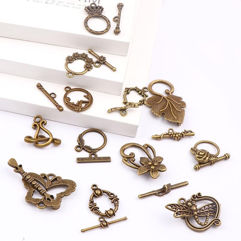 New Fashion Antique Bronze Color OT Toggle Buckle Connectors Fit Bracelet Necklace Clasps DIY Jewelry Findings Accessories