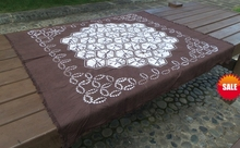 Tie dye Unique Original Design Decorations / Handmade Shibori Table Cloth Many Uses Mats pads Cover Football Diamonds Pattern