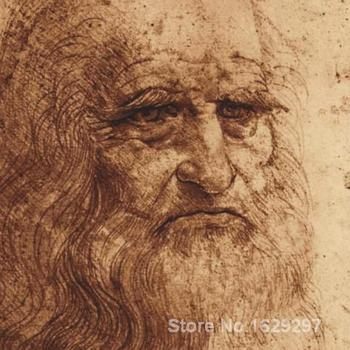 Canvas Paintings for living room Self Portrait detail Leonardo Da Vinci High quality Hand painted