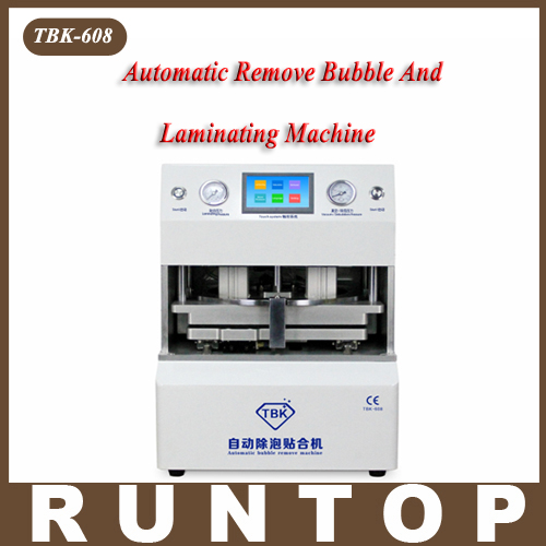 TBK-608 Automatic OCA Vacuum Laminating with Bubble Removing Machine for LCD Touch Screen Repair 17 14cm silicone pad silica mat gel of ko tbk oca vacuum laminating machine lcd touch screen repair separator kit tool