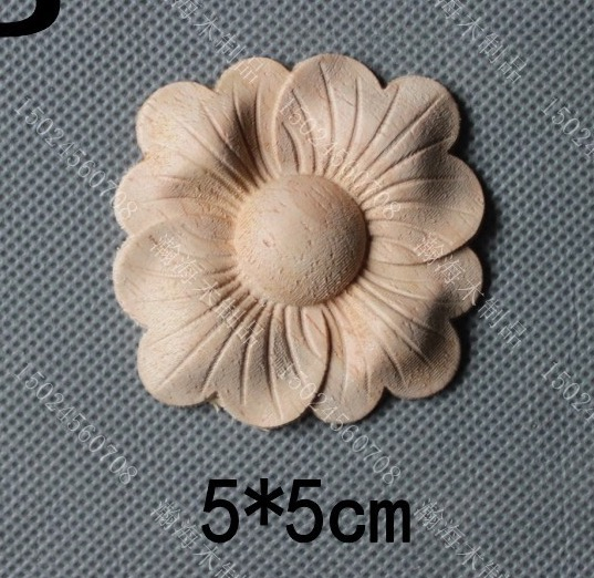 10Pieces/Lot 5x5cm Home Furnishing Embossed Decoration European Style Wooden Furniture Decals