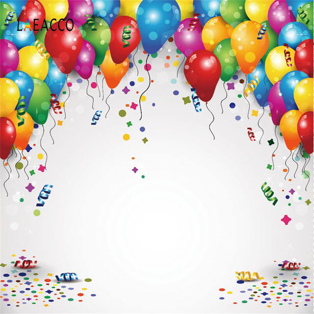 Birthday Balloon Backdrops For Photography Colorful Family Party Decor Baby Portrait Poster Photography Backgrounds Photo Studio
