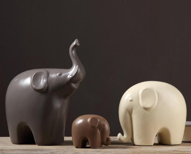 Elephant statue crafts decorations Office Home Furnishing Living Room Decoration
