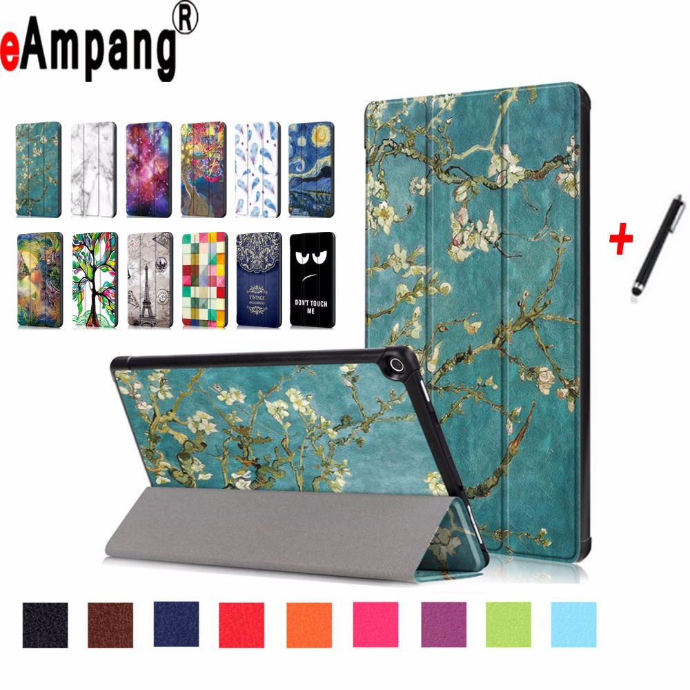 For Amazon Fire HD 10 2017 Case Fashion Slim Light Magnet Smart Sleep Wake Up Cover For Amazon Fire HD 10 (2017) Case+Stylus Pen будильник philips hf3520 01 wake up light