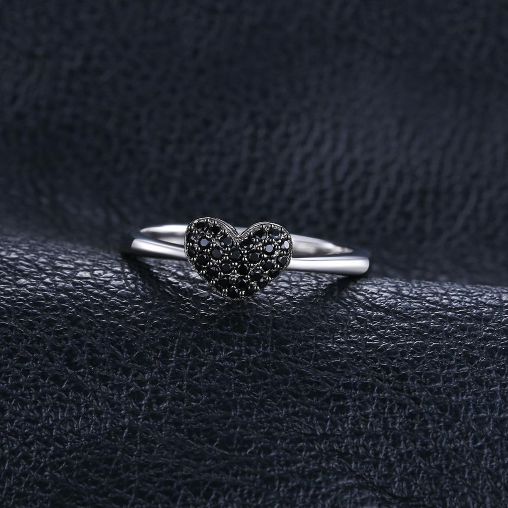 JewelryPalace Fashion Natural Black Spinel Love Heart Rings para - Joyas - foto 4