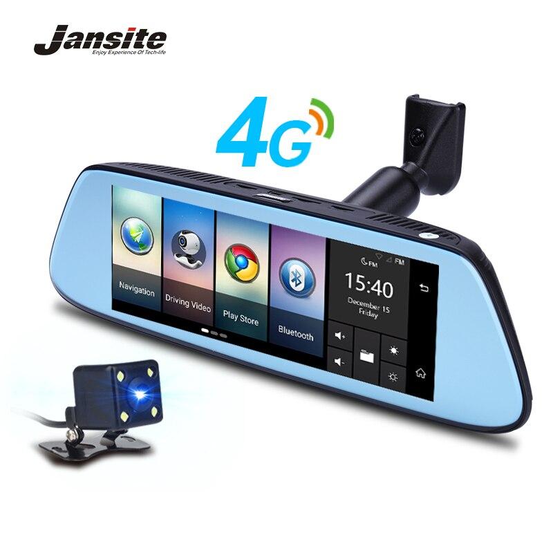 Jansite 8 4g Especial Espelho Câmera DVR Carro Android 5.1 com GPS DVRs Automóvel Gravador De Vídeo Espelho Retrovisor câmera Traço Cam