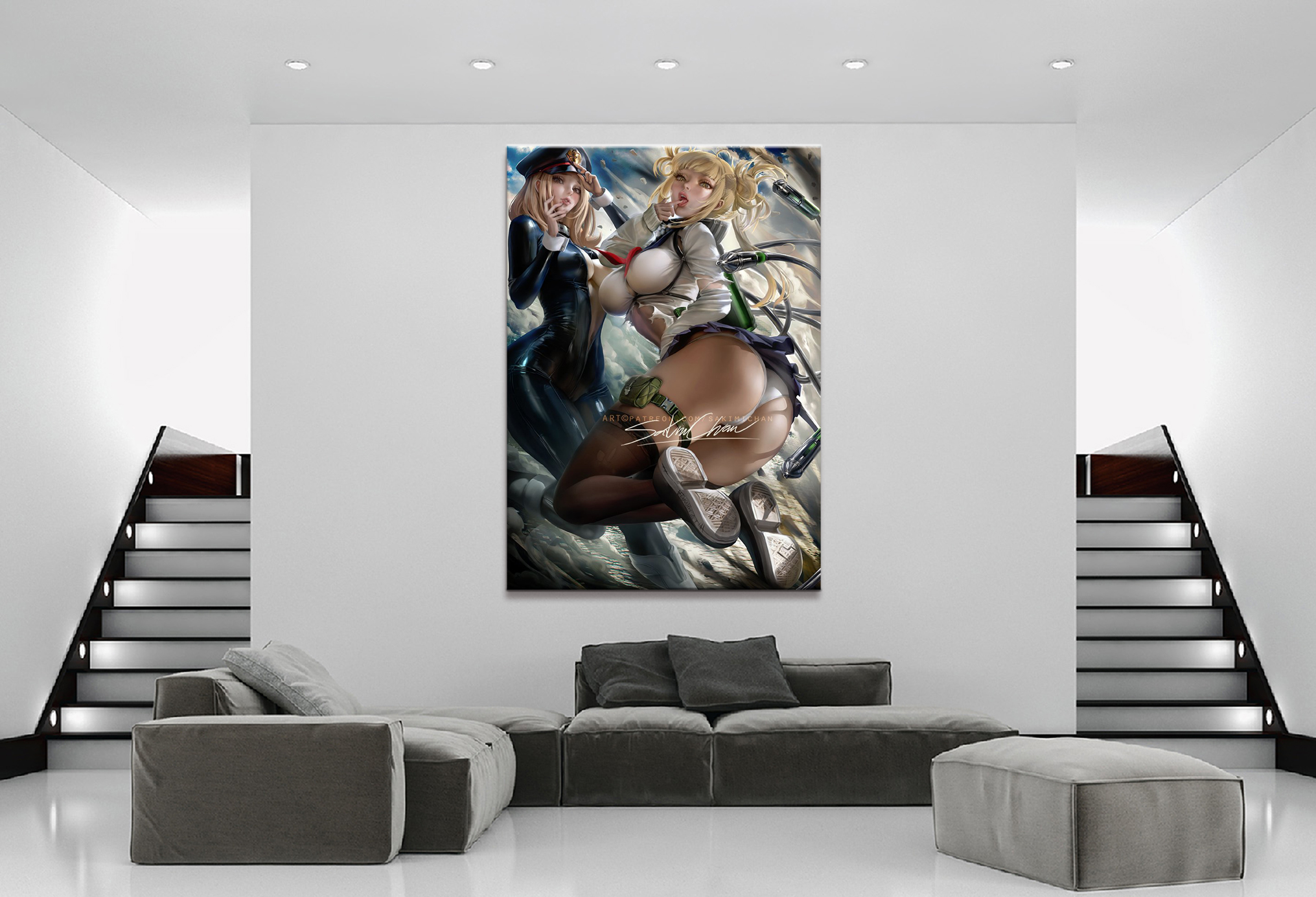Home Decor Canvas 1 Piece Cute Sexy Anime My Hero Academia Himiko Toga Posters and Prints Painting Home Decoration Wall Pictures