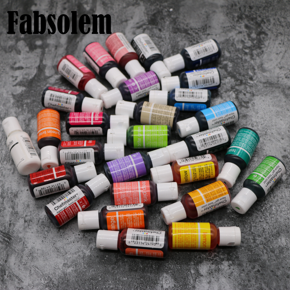 Food color pigment cream fondant Gel colors for cake decorating tool US Chefmaster brand DIY baking 1pcs 21g