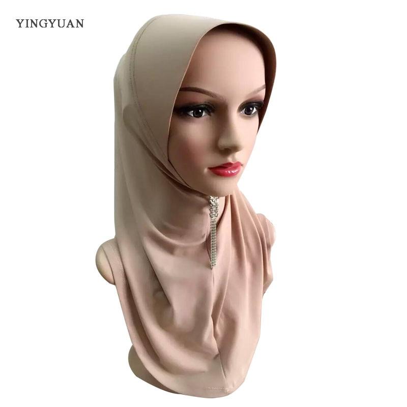 TJ44 haute qualité musulman hijabs écharpe facile porter nouvelle mode belles femmes musulmanes pashmina (aucune broche)