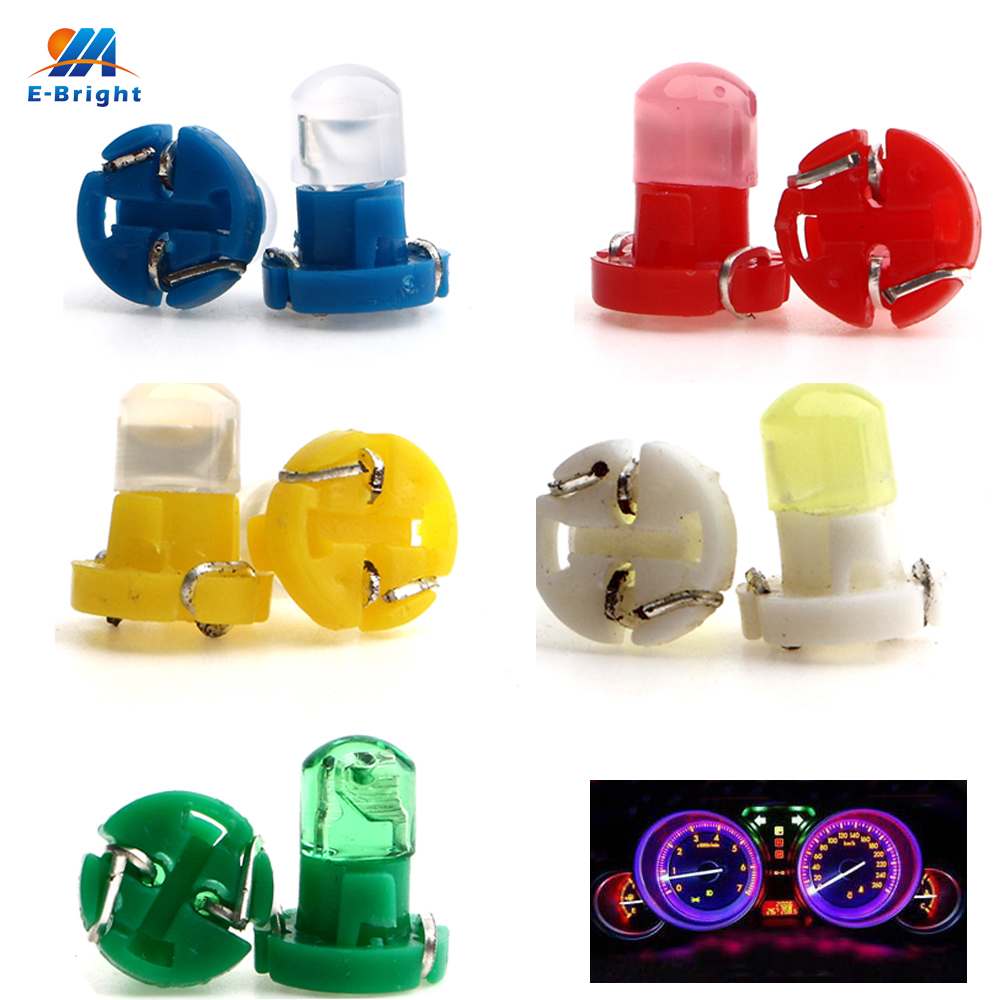 YM E-Bright 10X T3 COB 1 SMD F8 12V Dashboard Light LED Bulbs Warning Indicator Interior Lights For Car Vehicle Instrument Lamps
