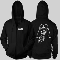Star Wars 7 Black Warrior Darth Vader Jedi Knight Force Awakening Zipper Hoodies Cotton Long Sleeve