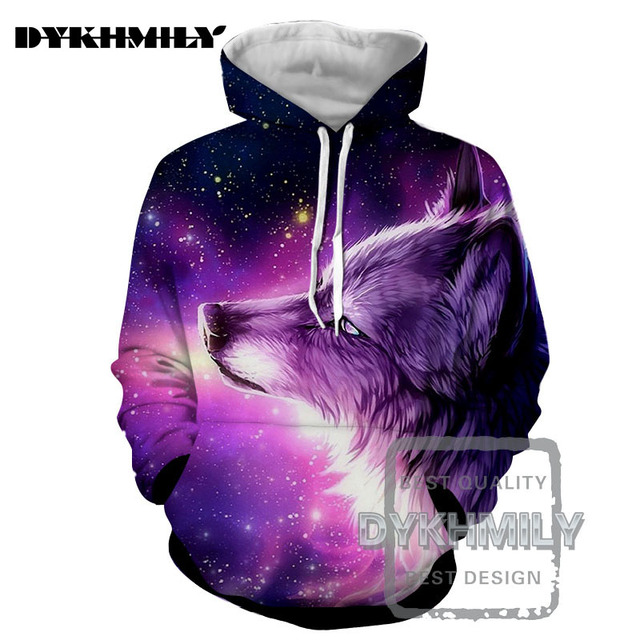 2e7f4d6f9d7d Dykhmily 2017 Men 3d Hoodies Funny Animal Purple Wolf Dog Starry Sky S-6xl  Fashion Men Hoodies Hip Hop Spring And Autumn Jacket