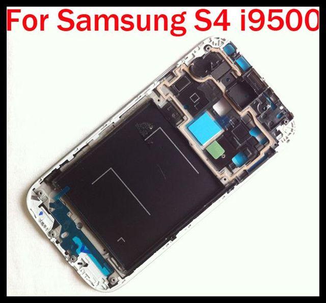 538006fd42f Xchmfg pantalla LCD Marcos para Galaxy S4 i9500 carcasa frontal medio bisel  para Galaxy i9500 DHL