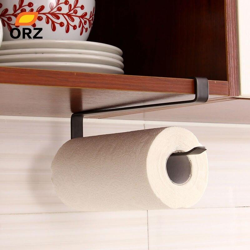 ORZ cocina creativa titular de papel colgante tejido Toalla de baño de rollo de papel higiénico titular de toalla de cocina de gabinete de Rack de almacenamiento