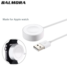ФОТО balmora for iwatch 2 3 magnetic wireless charger pad for apple watch automatic adsorption usb cable charger 38mm & 42mm