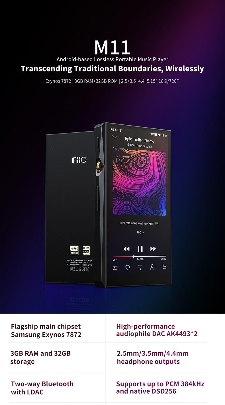 HOT SALE] FiiO M11 Audio Android based Bluetooth HIFI