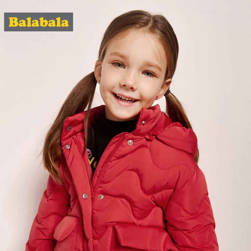 Balabala Toddler Girls Quilted Lighweight Hooded Down Jacket with Stand-up Collar Kids Hooded Puffer Jacket with Snap ClosureBalabala Toddler Girls Quilted Lighweight Hooded Down Jacket with Stand-up Collar Kids Hooded Puffer Jacket with Snap Closure