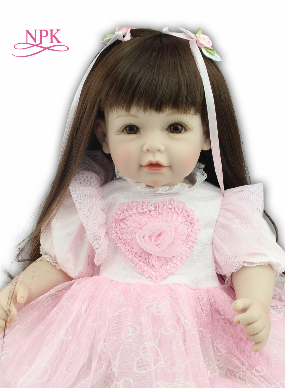 NPKCOLLECTION 50cm real reborn boneca Baby vinly Doll Children lifelike Toys girls 20 inch Dress doll Gifts Christmas Birthday