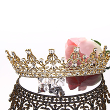 European Design  Women Elegant Wedding Bride Crown Headwear Gold  Tiaras Cute Head Pin Sweet Hair Jewelry Gift