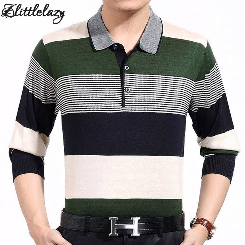 2270879087 2018 casual manga comprida camisas dos homens de negócios masculino  listrado camisa polo marca de moda designer homens tenis polos camisa social  2107