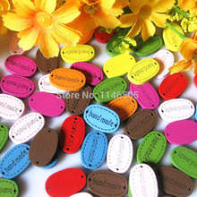 200PCS/LOT New arrival wooden button plaque handmade label mark Diy Needs Home decor bulk buttons mixed for crafts